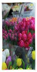 Sidewalk Flowers Beach Sheet by Lora Lee Chapman