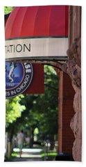 Sidewalk View Jazz Station  Beach Sheet
