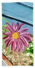 Sidewalk View Beach Towel