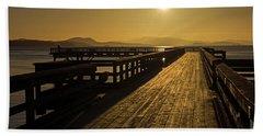 Sidney Pier Beach Sheet by Inge Riis McDonald