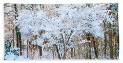 Siebold Viburnum In Snow Beach Sheet