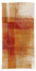 Sienna 2- Abstract Art By Linda Woods Beach Towel