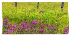 Sierra  Byway Wildflowers Beach Towel