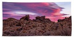 Sierra Clouds At Sunset Beach Sheet