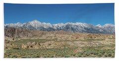 Sierra Nevada Mountain Range Beach Towel