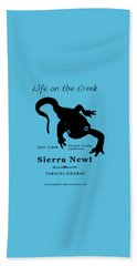 Sierra Newt - Black Beach Towel