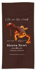 Sierra Newt - Color Newt - White Text Beach Towel
