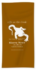 Sierra Newt - White Beach Towel