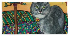 Sierra The Beloved Cat Beach Sheet