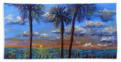 Siesta Summer Sunset Beach Sheet by Lou Ann Bagnall