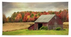 Sights And Sounds Of Fall Beach Towel by Lori Deiter