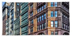 Beach Sheet featuring the photograph Sights In New York City - Colorful Buildings by Walt Foegelle