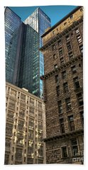 Beach Sheet featuring the photograph Sights In New York City - Old And New 2 by Walt Foegelle