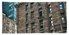 Beach Sheet featuring the photograph Sights In New York City - Old And New by Walt Foegelle