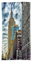 Beach Sheet featuring the photograph Sights In New York City - Skyscrapers 10 by Walt Foegelle