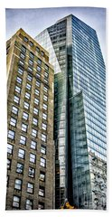 Beach Sheet featuring the photograph Sights In New York City - Skyscrapers by Walt Foegelle