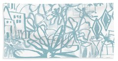 Sightseeting- Art By Linda Woods Beach Towel
