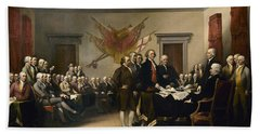 Signing The Declaration Of Independence Beach Sheet