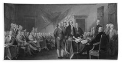 Signing The Declaration Of Independence Beach Sheet by War Is Hell Store