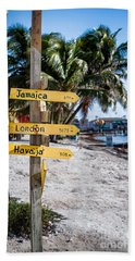 Signs Beach Sheet by Lawrence Burry
