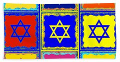 Silberzweig - Judaica Modern Star Sun Beach Sheet