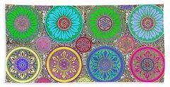 Silberzweig - Karma Mandela - Amethyst Lime - Beach Sheet by Sandra Silberzweig