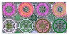 Silberzweig - Karma Mandela - Coral Jade - Beach Sheet by Sandra Silberzweig