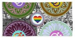 Silberzweig - Karma Mandela - Pride Male - Jade Beach Sheet by Sandra Silberzweig
