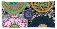 Silberzweig - Karma Mandela - Rose Jade - Beach Sheet by Sandra Silberzweig