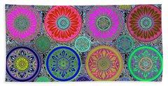 Silberzweig - Karma Mandela - Ruby Lime - Beach Towel