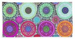 Silberzweig - Karma Mandela - Ruby Violet - Beach Sheet by Sandra Silberzweig