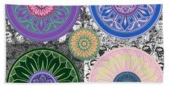 Silberzweig - Karma Mandela - Sapphire Rose - Beach Sheet by Sandra Silberzweig