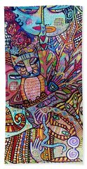 Silberzweig Tree Of Creation Goddess Spirit Beach Towel