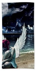 Silence Of An Angel Beach Towel by Mo T