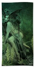 Silence Of The Night Beach Towel
