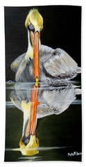 Beach Towel featuring the painting Silence Of The Night by Phyllis Beiser