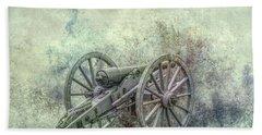 Silent Cannon Field Of Fire Beach Towel by Randy Steele