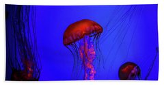 Beach Towel featuring the photograph Silent Jellies by Jeff Folger