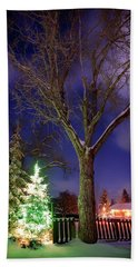 Beach Towel featuring the photograph Silent Night by Cat Connor