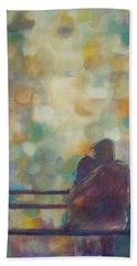 Beach Towel featuring the painting Silent Night by Raymond Doward