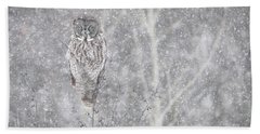 Beach Towel featuring the photograph Silent Snowfall Landscape by Everet Regal