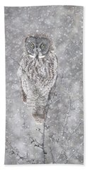 Beach Towel featuring the photograph Silent Snowfall Portrait by Everet Regal
