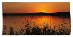 Silent Sunset Beach Towel by Penny Meyers