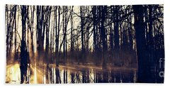 Silent Woods #4 Beach Sheet