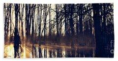 Silent Woods No 4 Beach Sheet