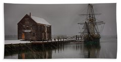 Silently The Snow Falls. Beach Towel by Jeff Folger