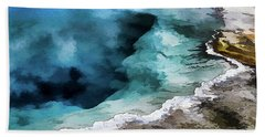 Silex Hot Springs   Impressionism Beach Towel