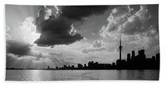 Silhouette Cn Tower Beach Sheet