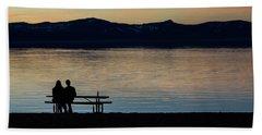 Silhouette Sunset Serenity Beach Sheet