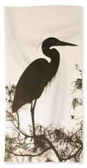 Silhouette In The Sunset Beach Towel